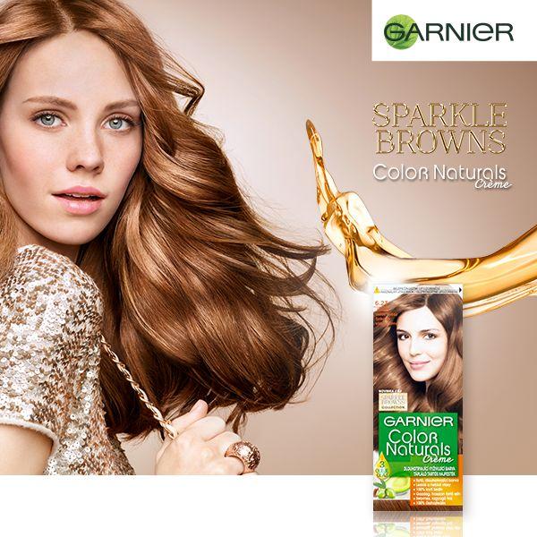Garnier Vyživující oleje pro ještě krásnější hnědé vlasy! Objev nové odstíny řady Sparkle Browns od Garnier Color Naturals!