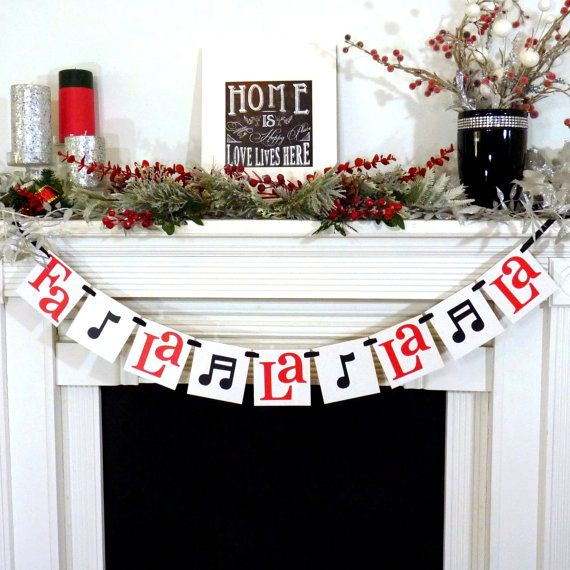 Christmas Banner - Fa La La La La Sign - Merry Christmas banner - Holiday Decor - Christmas Decor - Music Notes - X-mas Song - Family Photos...