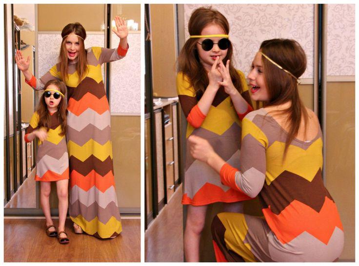 Платья для мам и дочек. Летние платья 2015