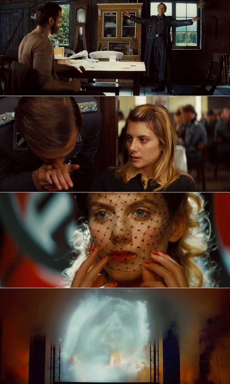Inglourious Basterds, 2009 (dir. Quentin Tarantino) By cinemetrics In honour of our #1 film of the decade. [1 of 2]