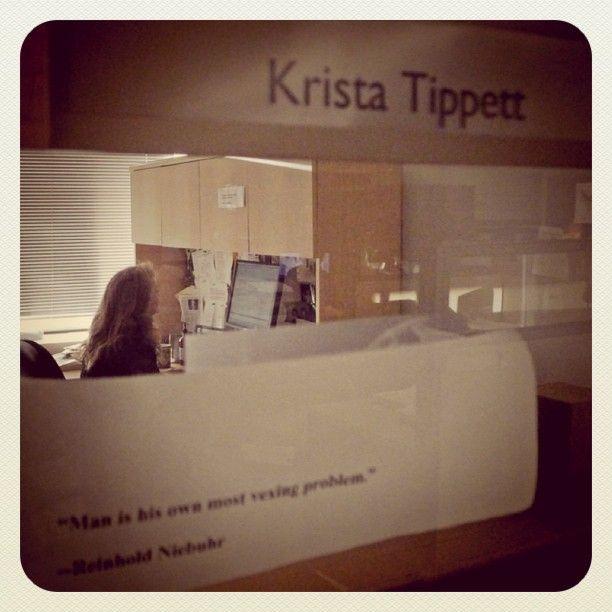 Krista Tippet.  I love her program!