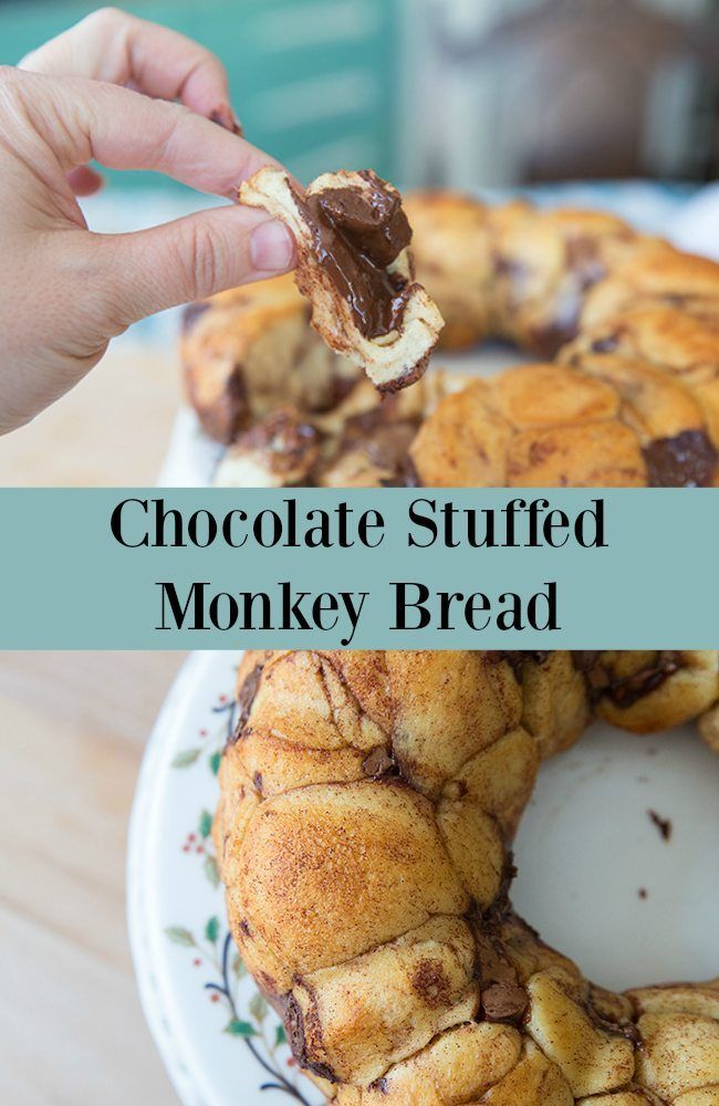 Lindt Chocolate Stuffed Monkey Bread from @kitchenmagpie