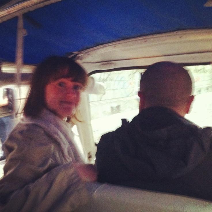 Marta di blogdiviaggi.com importuna il conducente :-)