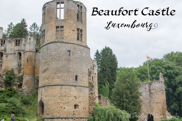 Beaufort Castle in Beaufort, Luxembourg is a great day trip and can easily be combined other things in the area like the Schiessentümple Cascade & bridge.