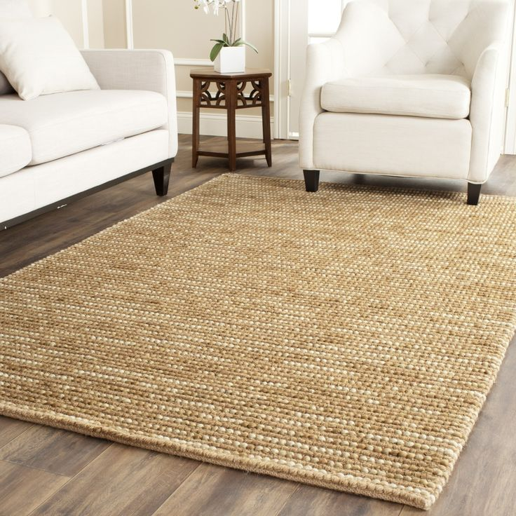 Safavieh Hand Knotted Vegetable Dye Chunky Beige Hemp Rug X