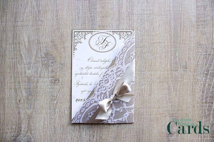 Lace pocket esküvői meghívó | Ribbon & More kollekció | - esküvői meghívó - esküvői meghívó, meghívók, ribbon & more esküvői meghívók, esküvői meghívók Budapest