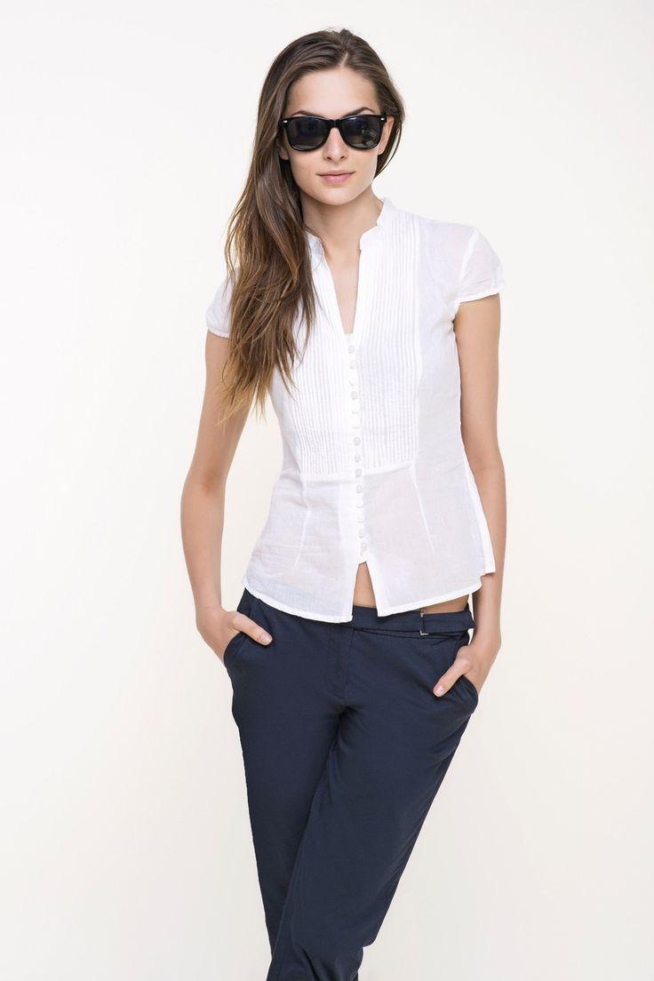 koszula damska tkaninowa  #tatuum #whiteshirt