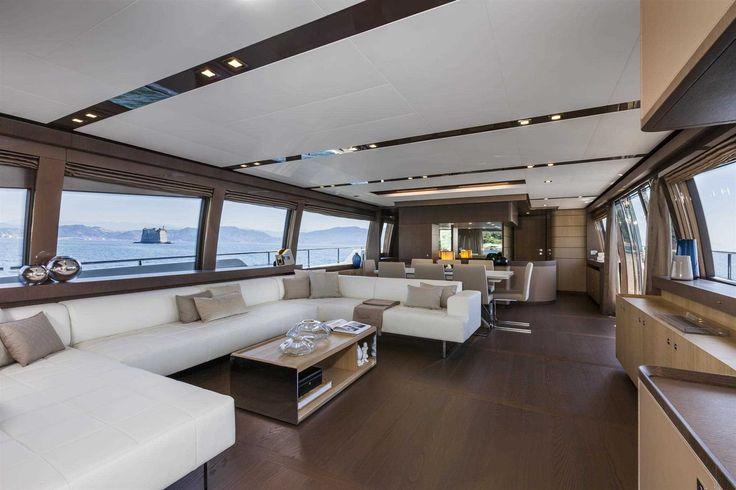 The #Interior #Design #MadeInItaly on board of the Ferretti #Yachts 960
