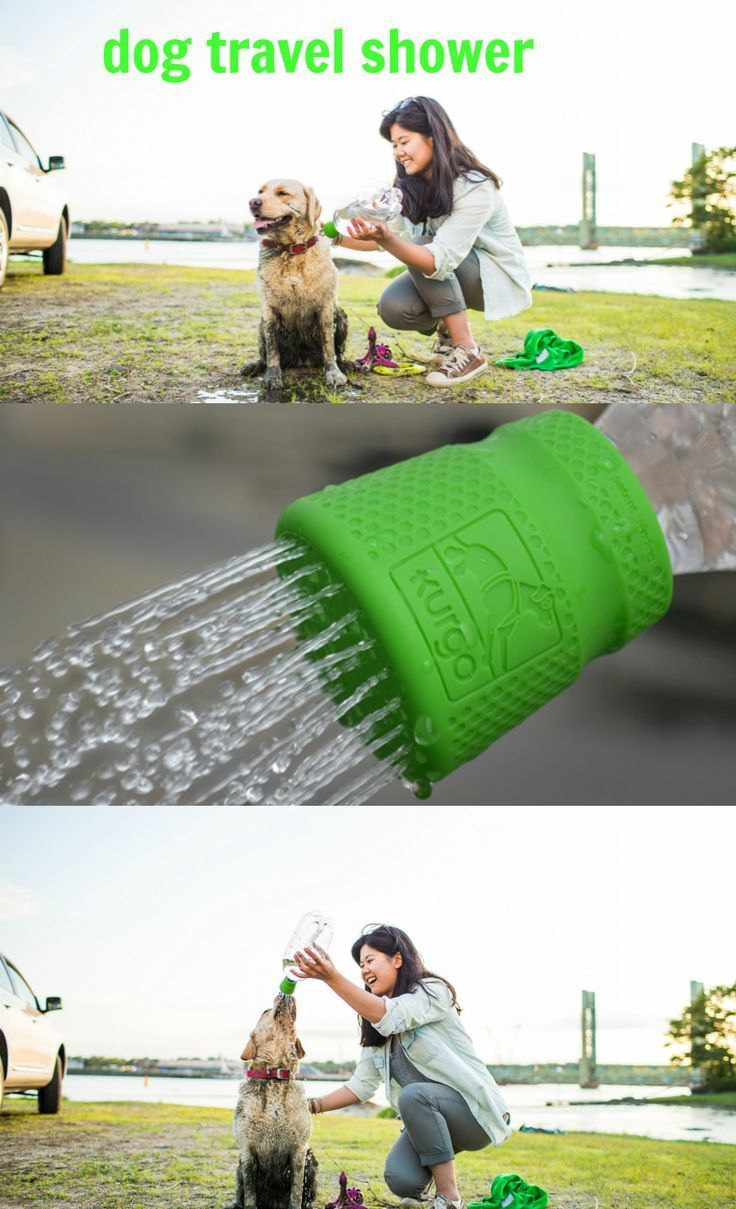 """This Dog Travel Shower is great for after the beach, after a hike, or just to cool your pup down!"