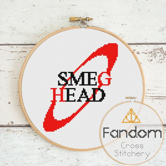 Smeg Head Red Dwarf Cross Stitch Pattern