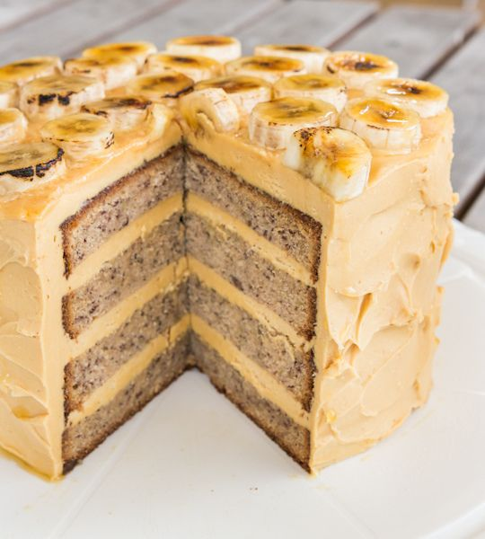 Banana Cake with Salted Caramel Icing by raspberri cupcakes