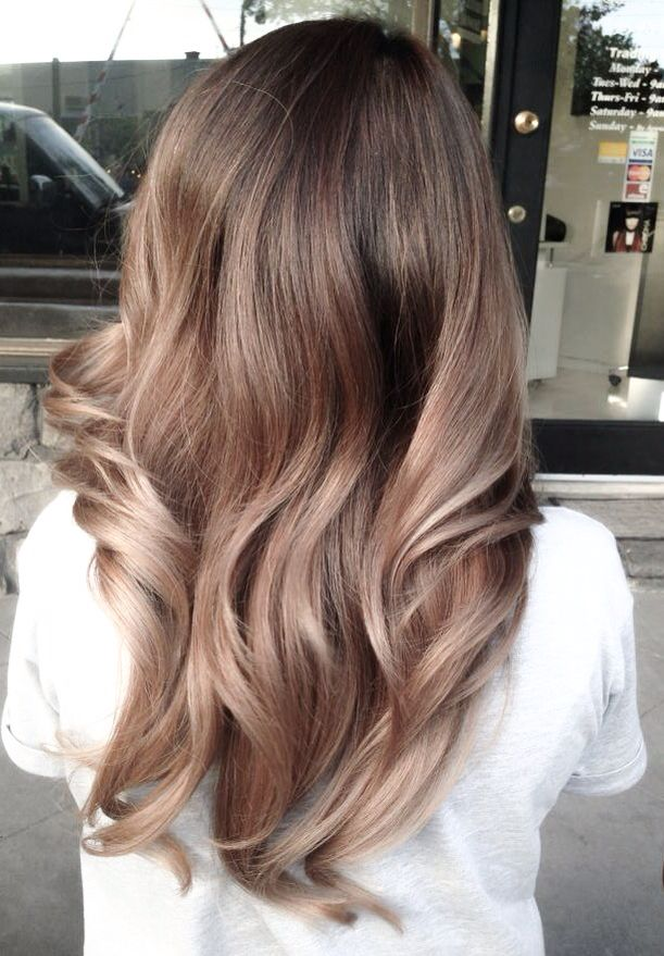 Honey ash balayage ombré