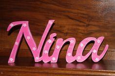 Wunschname  Nina Name Namensschild  Sterne von Inas Nordlichter auf DaWanda.com