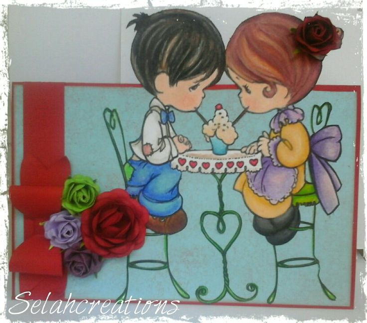 Share with me... handcrafted card made worn selahcreation flowers