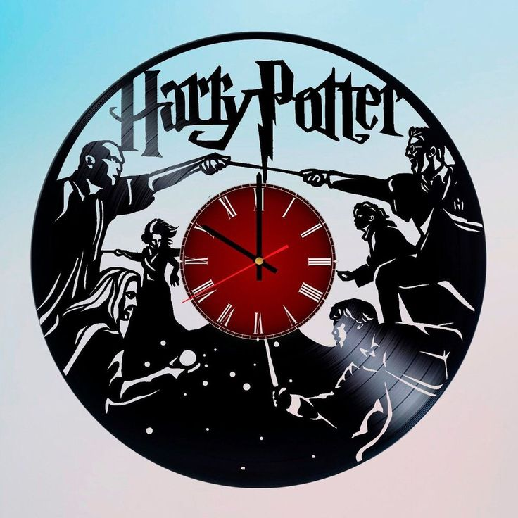 Harry Potter Handmade Vinyl Record Wall Clock Home Decor