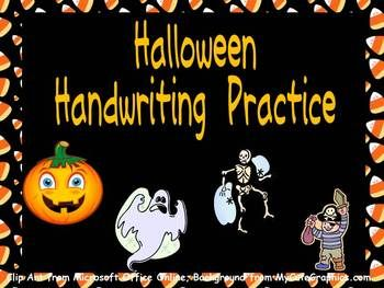 FREE Halloween Handwriting Practice!!!