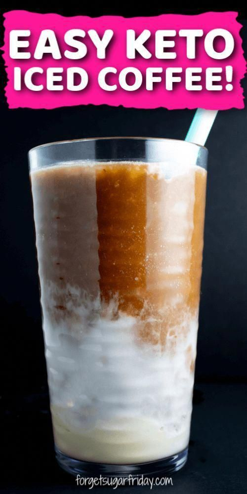 EASY Keto Iced Coffee recipe!! Iced coffee season is officially here and it's time to whip out the keto coffee drinks! W…