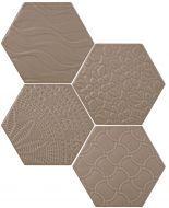 #Exarel Matt #Tonalite #Exabright #Tiles #Piastrelle #Carreaux #Azulejos #Hexagonal #Decorated #Texture #Wall Tiles #Floor Tiles #Backsplash #Kitchen #Bathroom