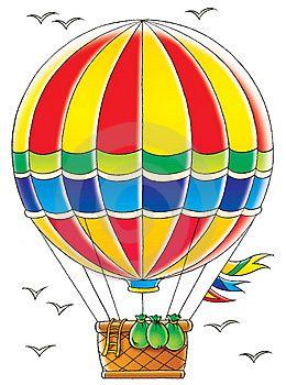 Рисунки воздушного шара с корзиной