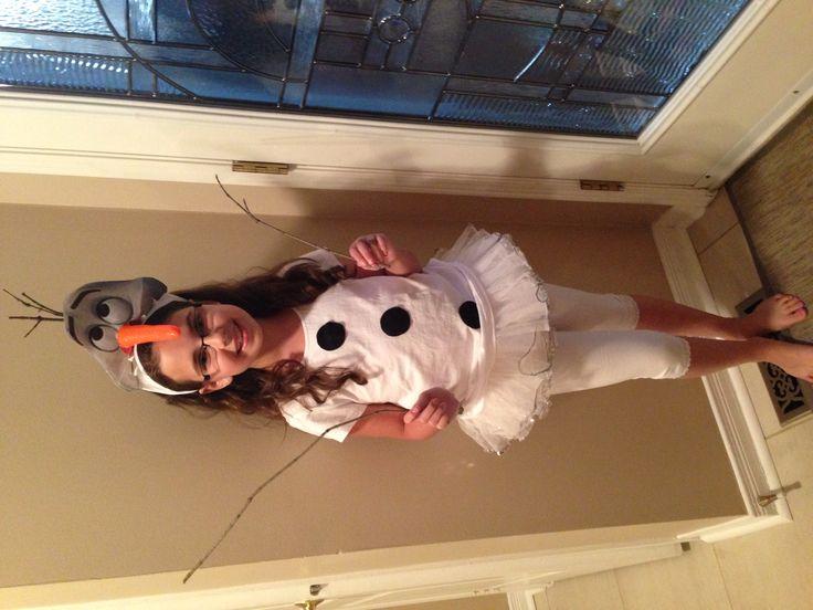 DIY Olaf costume Frozen