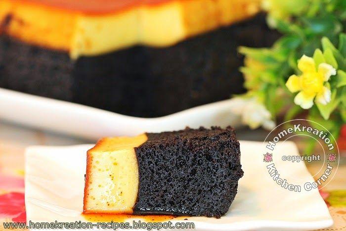 HomeKreation - Kitchen Corner: Chocolate Cake with Caramel Topping (Kek Coklat Puding Karamel)