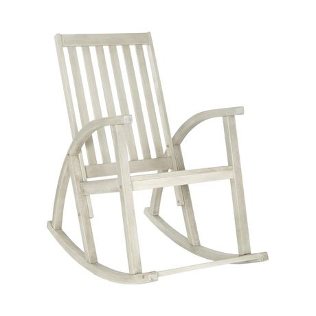 Enjoy the serene sights of your back or front yard from the comfort of this soothing outdoor staple. Crafted from elegant and sustainable acacia wood, the Tiverton Outdoor Rocking Chair is built for lo...  Find the Tiverton Outdoor Rocking Chair, as seen in the The Floating Farmhouse Collection at http://dotandbo.com/collections/the-floating-farmhouse?utm_source=pinterest