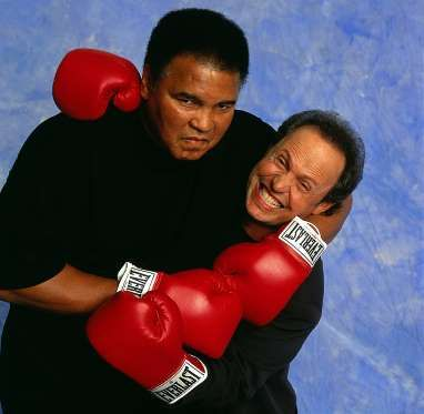 Ali messes around with actor Billy Crystal during a photo shoot in 2000. Crystal's impression of Ali... - Neil Leifer for Sports Illustrated