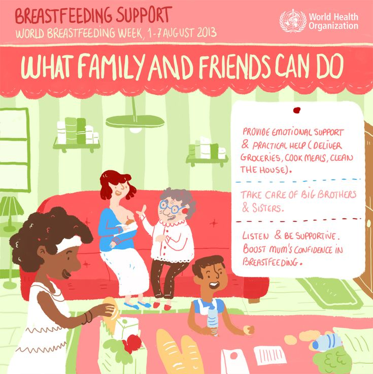World Breastfeeding week Aug 1-7, 2013 World Health Organization (WHO) Breastfeeding support: Friends and family