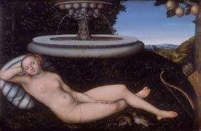 The Nymph Of The Fountain, Lucas Cranach the Elder, 1534. Walker Art Gallery, Liverpool: Elder, Nymphs, Fountain 1534, Walker Art, Galleries, Art Gallery, Liverpool, Lucas Cranach, Painting