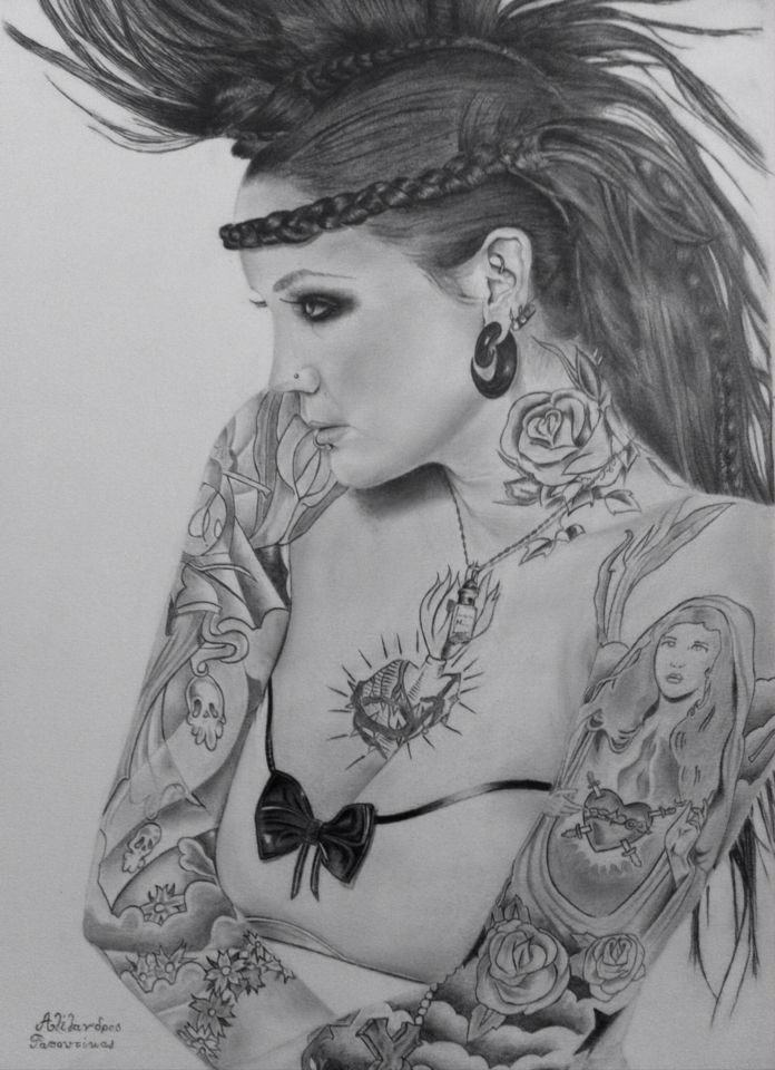 Tattoo sleeves drawing by  Alexandros Rapoutikas