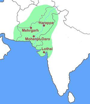 La civilisation de la vallée de l'Indus (5000 av. J.-C. – 1900 av. J.-C.), dite aussi civilisation harappéenne, était une civilisation de l'Antiquité dont l'aire géographique s'étendait principalement dans la vallée du fleuve Indus dans le sous-continent indien (autour du Pakistan moderne). Bien que probable, l'influence qu'elle a pu avoir sur la culture hindoue contemporaine n'est pas clairement établie.