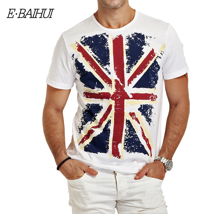 E-BAIHUI Brand Cotton men Clothing Male Slim Fit t shirt  Man T-shirts Casual T-Shirts Skateboard Swag mens tops tees Y001 #Affiliate