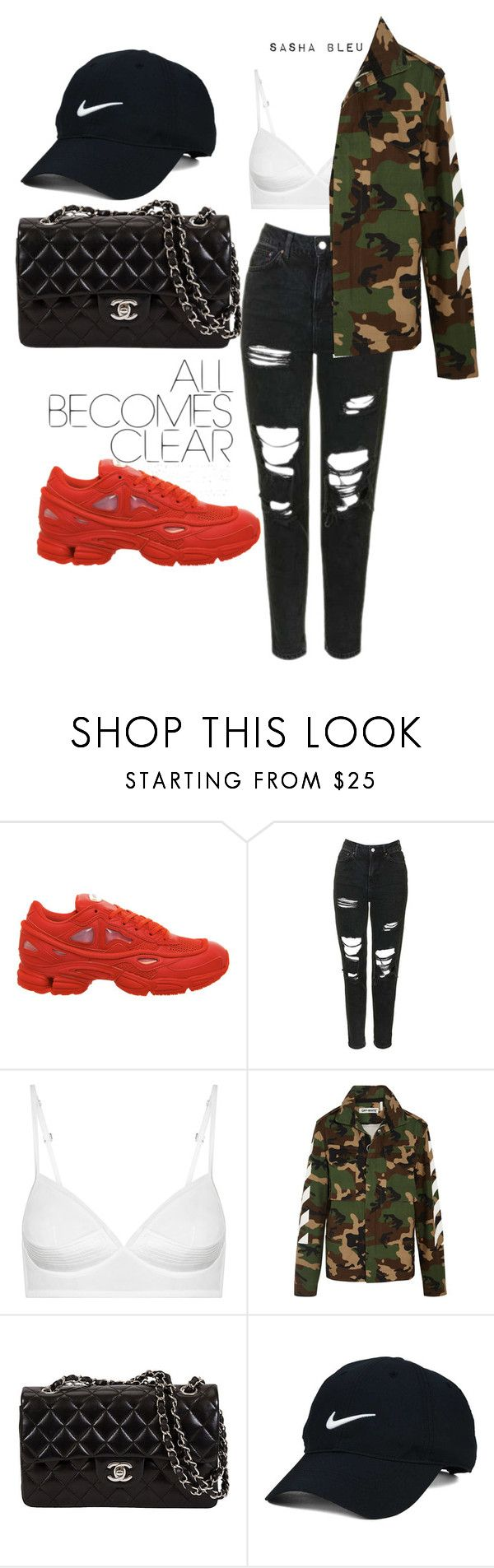 """""""Don't need the Tea baby I got the juice 😏"""" by sashableu ❤ liked on Polyvore featuring Topshop, Off-White and Nike Golf"""
