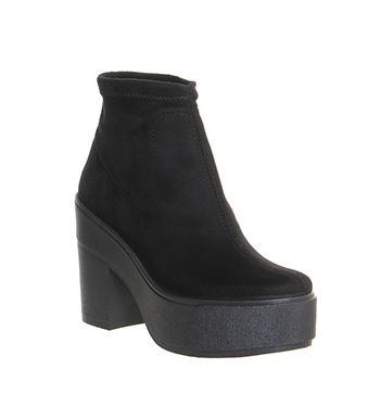 Office Flaunt Sock Boot Black - Ankle Boots