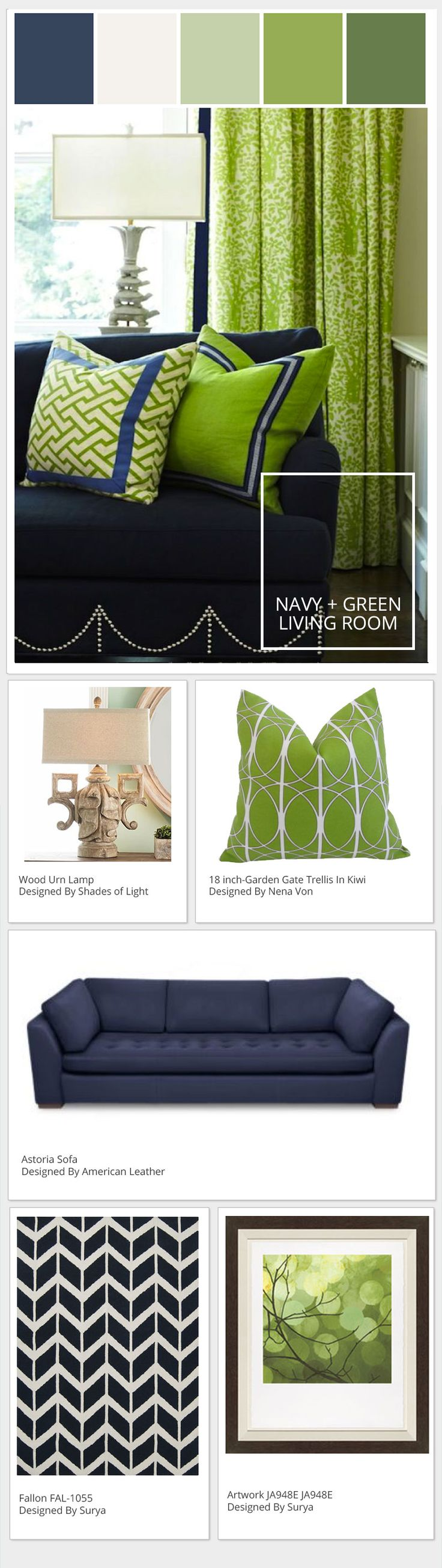 Motivation Monday | Seahawks Blue + Green Living Room - Stylyze