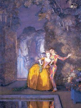 Lady and Harlequin (Fireworks ) - Konstantin Somov
