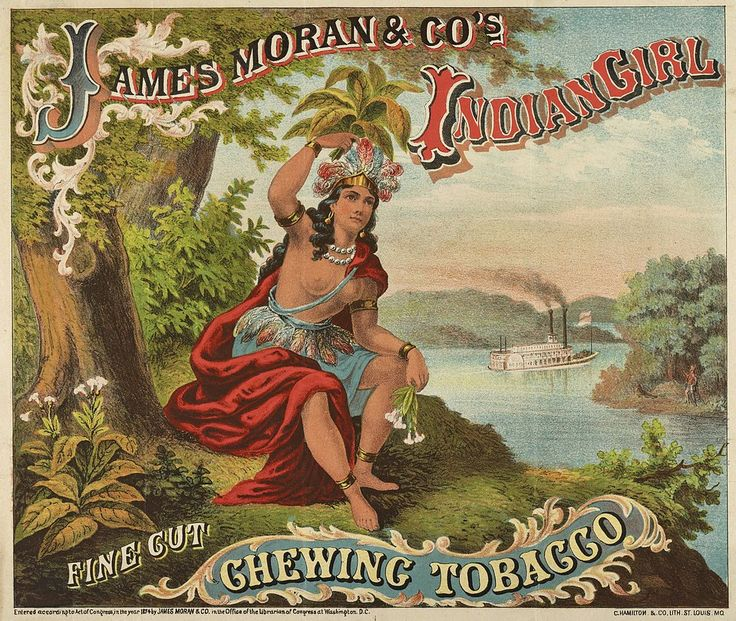 Advertisement: James Moran & Co's Indian Girl Fine Cut Chewing ...
