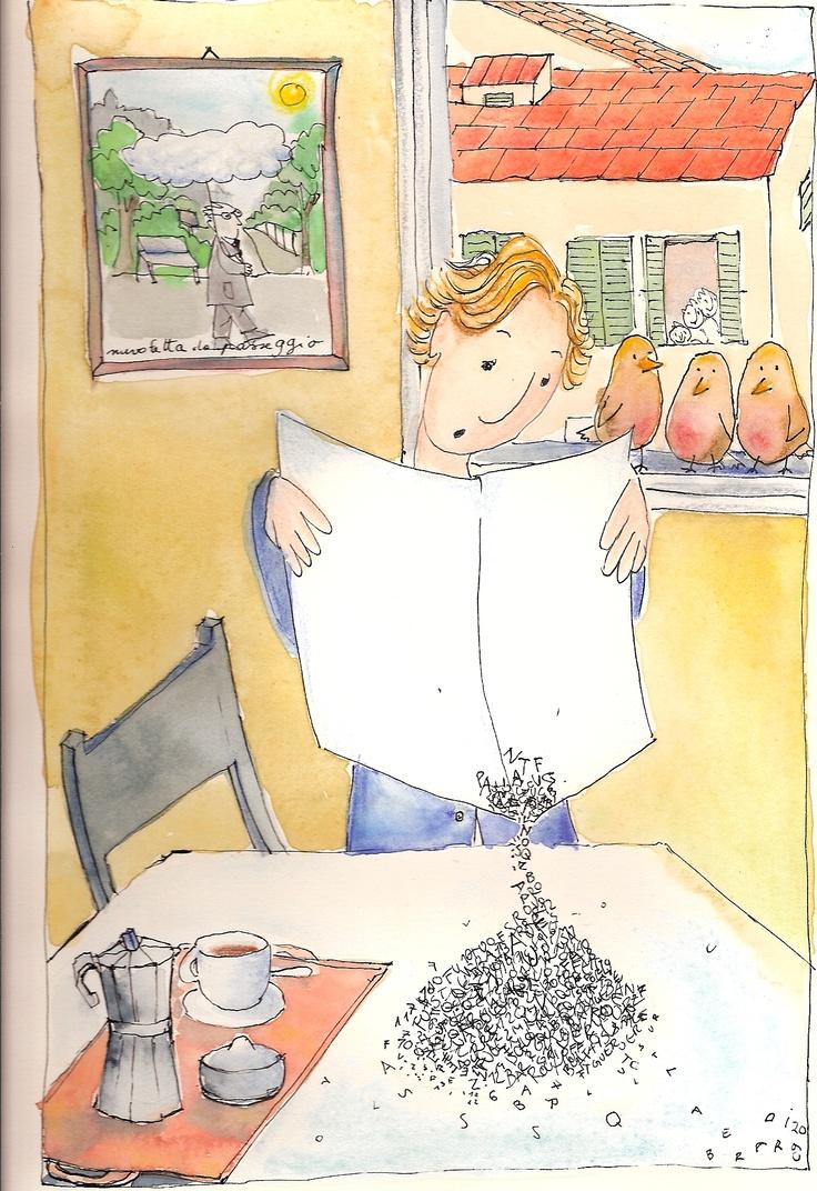 Cristina Berardi, 2009, ink and watercolour