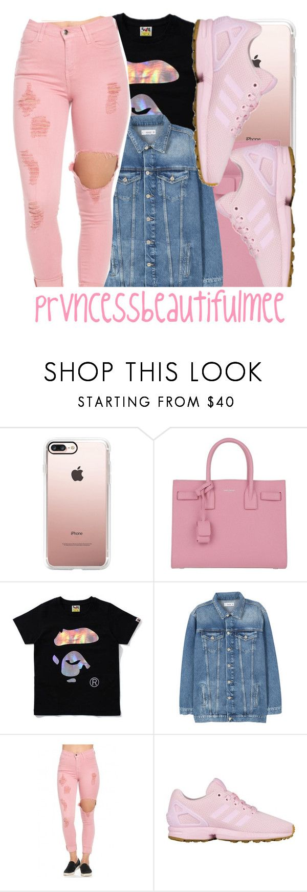 """"""""""" by prvncessbeautifulmee on Polyvore featuring Casetify, Yves Saint Laurent, MANGO and adidas Originals"""