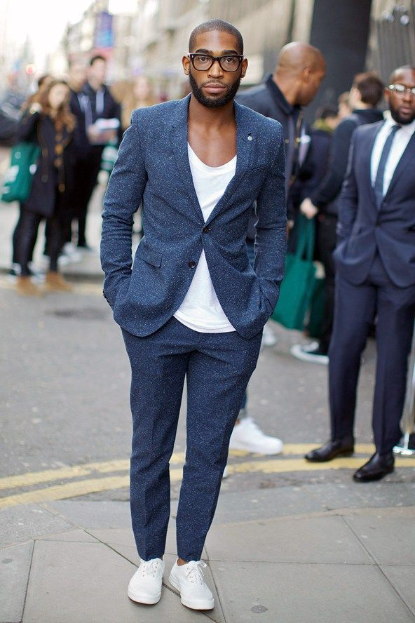 Tinie Tempah at the London Collections: Men's Fashion Week