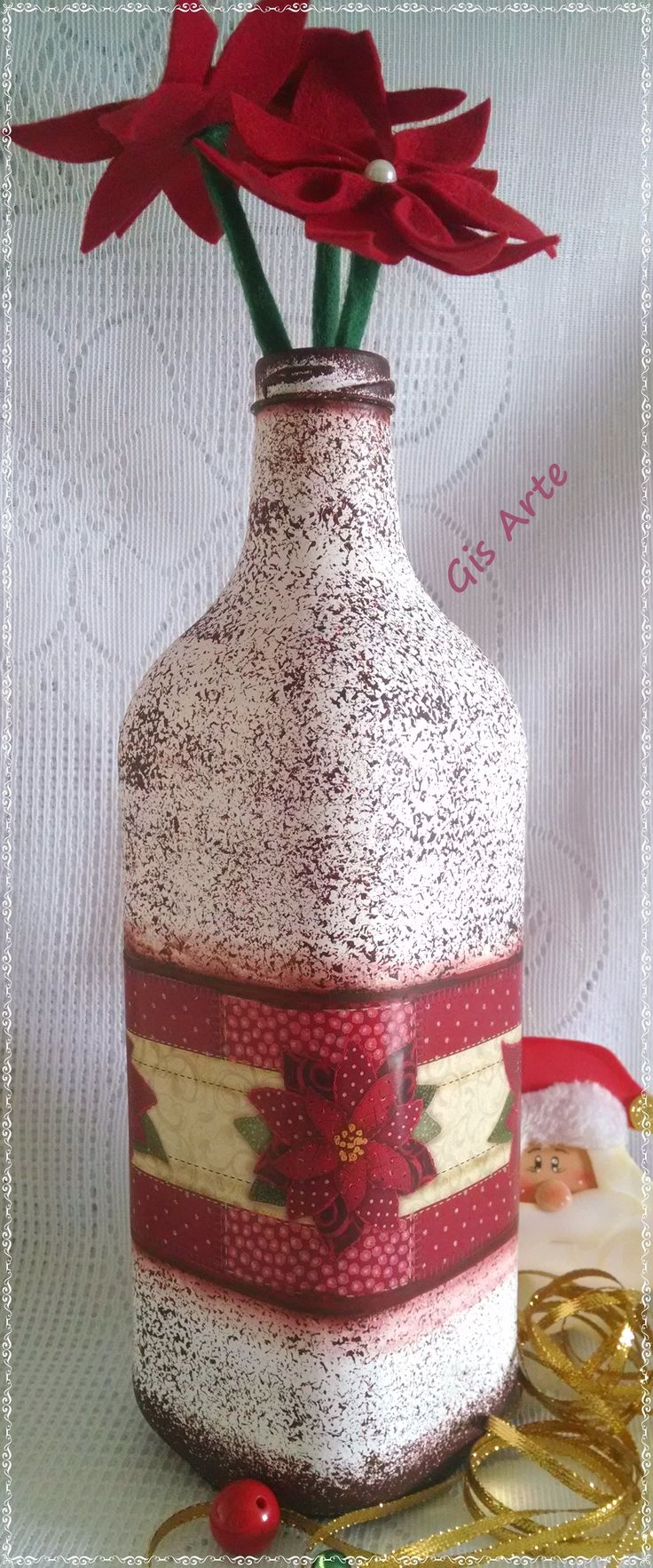 157 best jars wine bottles glasses vases images on for Wine bottle glasses diy