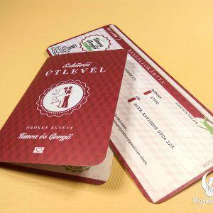 Passport and Boarding Pass printed wedding invitation #esküvőimeghívó #egyedi #beszállókártya #útlevél #wedding #weddinginvitation #printed #unique #boardingpass #passport #unique