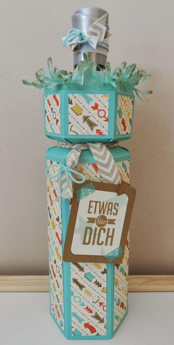 Stampin´up! große Flaschenverpackung im Retro-Look mit dem Envelope Punch Board