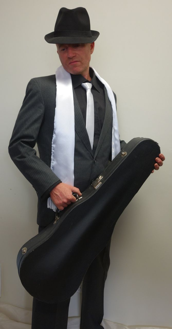 1920's Men's Gangster Costume with Violin Case for Hire - The Littlest Costume Shop