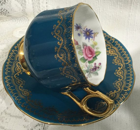Vintage, English ROSINA Bone China Tea Cup & Saucer