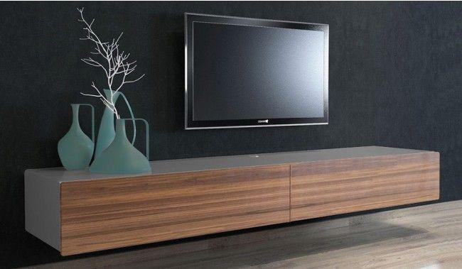 Ikon Grey Walnut Floating Tv Large Delux Deco Floating Tv
