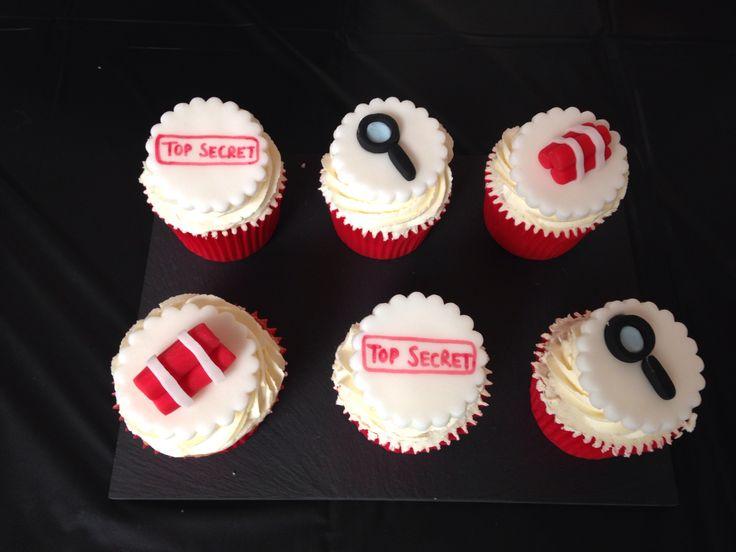Secret Agent Cupcakes!