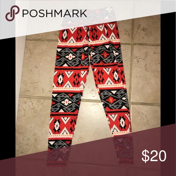 Aztec print Leggings Stretchy leggings- I typically wear a 26 in jeans and these fit nicely with lots of extra give! Other