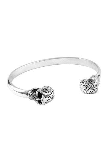 Skull Wire Cuff Bracelet