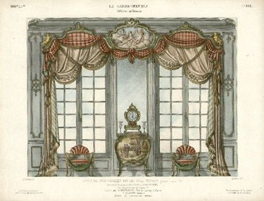 French Style Wall Decor Ancien Et Moderne Interior Design Prints Mid 19th Century Pinterest Curtains And Curtain Designs